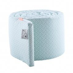 XL Babybett Nestchen 'Happy Dots' softblau 350cm