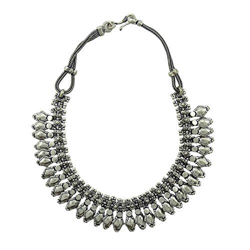 Banithani Silvertone Oxidized Choker Necklace Women Party Indian Fashion Jewelry *** Want additional info? Click on the image.