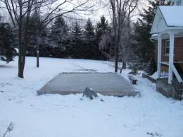 Marvelous Backyard Hockey Rink