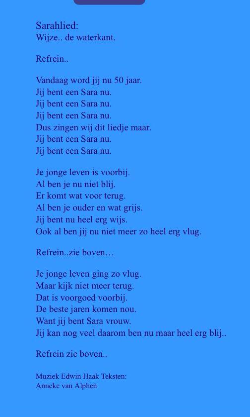 Gedicht 50 Jaar Humor
