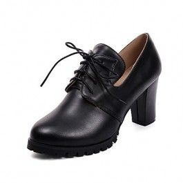 How about this shoe?  Share to get a coupon for all on FSJ Black Lace-up Vintage Heels Women's Brogues
