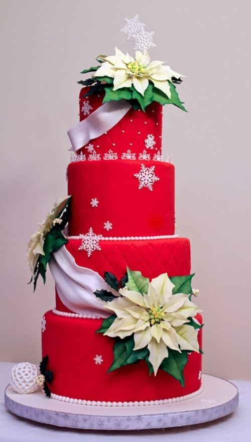 A beautiful collection of Christmas cakes to inspire you!  These Christmas cake art ideas are perfect for a Christmas party or Christmas gathering.
