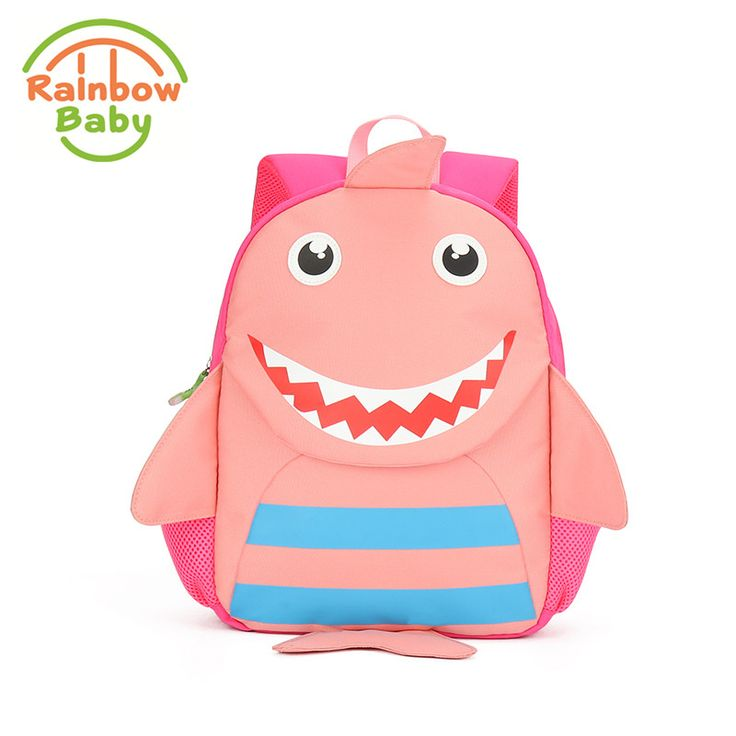 >> Click to Buy << Rainbow Baby Cute Shark Kids & Babys Bags Anti Lost School Bags for 2-8 Years Boys and Girls Bagpack Waterproof Backpack Pink #Affiliate