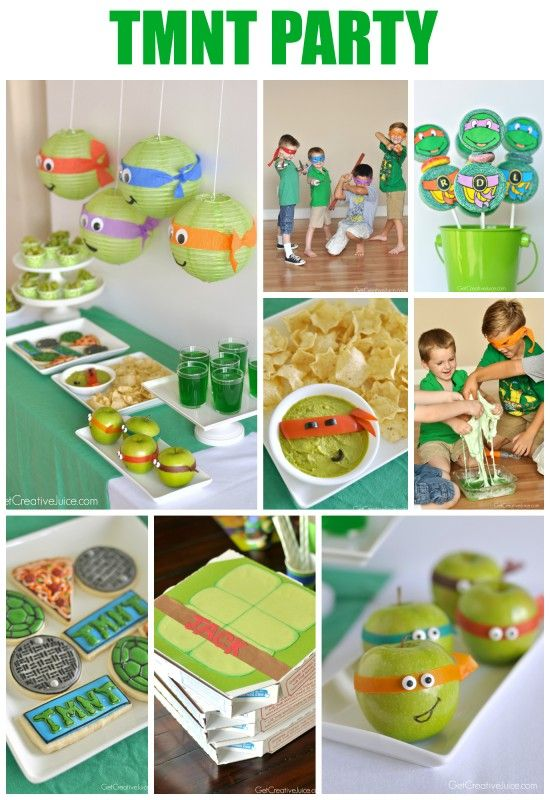 TMNT Party - tons of fun & easy food/decoration ideas for your kids