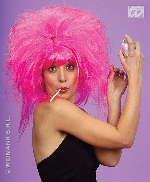 Pretty Woman Wig This Is Crazy Neon Pink Wig With A Fringe
