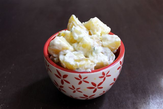 Tzatziki Potato Salad by Short and Sweets. (I love my g-ma's tater ...
