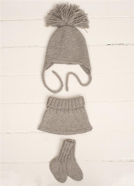 1310: Modell 5 Lue, hals og sokker #strikk #alpakka