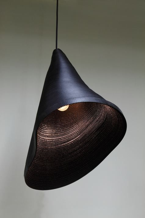 Hyungshin Hwang is a Korean designer based in Seoul. From his 'Cardboard Light Series'.