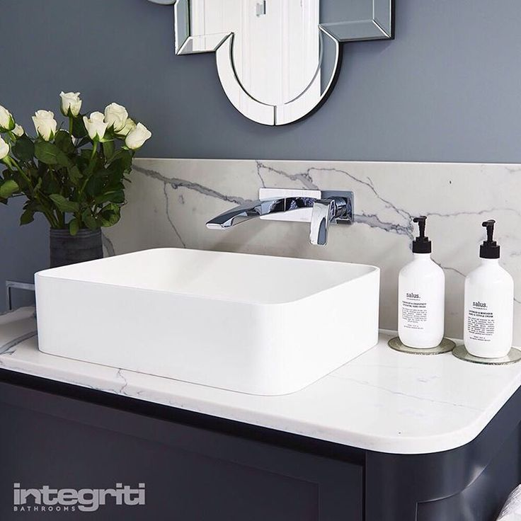 """72 Likes, 4 Comments - Integriti Bathrooms (@integriti_bathrooms) on Instagram: """"Modern features like the clean lines on this sink and the beautiful mixers are what create this…"""""""