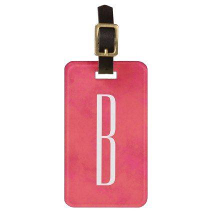 Bright monogram luggage tag - monogram gifts unique design style monogrammed diy cyo customize
