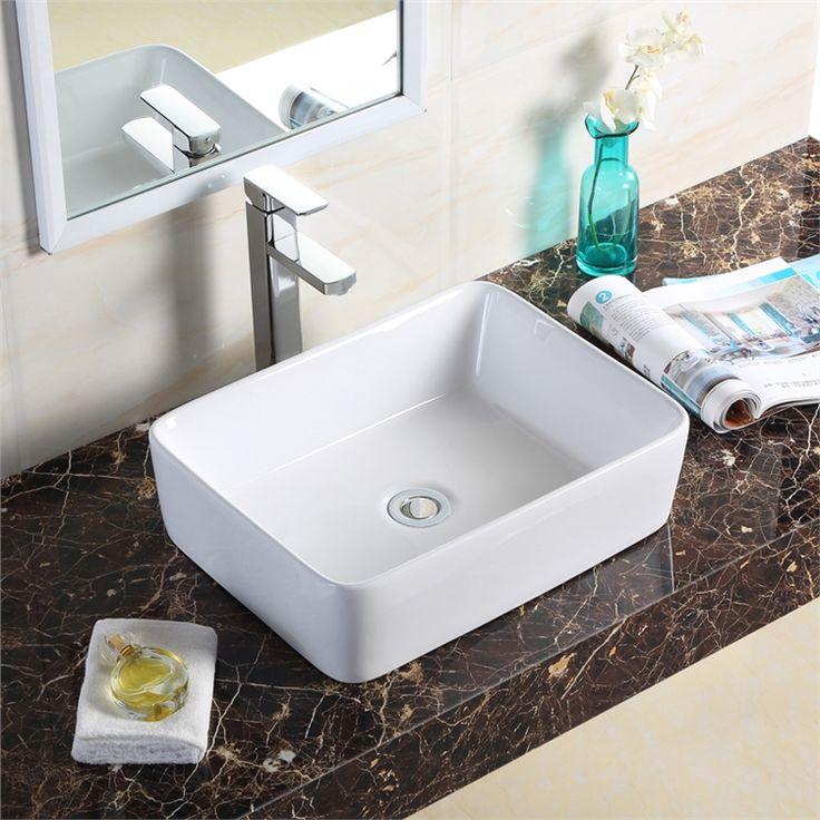 手洗い鉢 洗面ボウル 洗面台 手洗器 洗面ボール 陶器製 方形 48.5cm