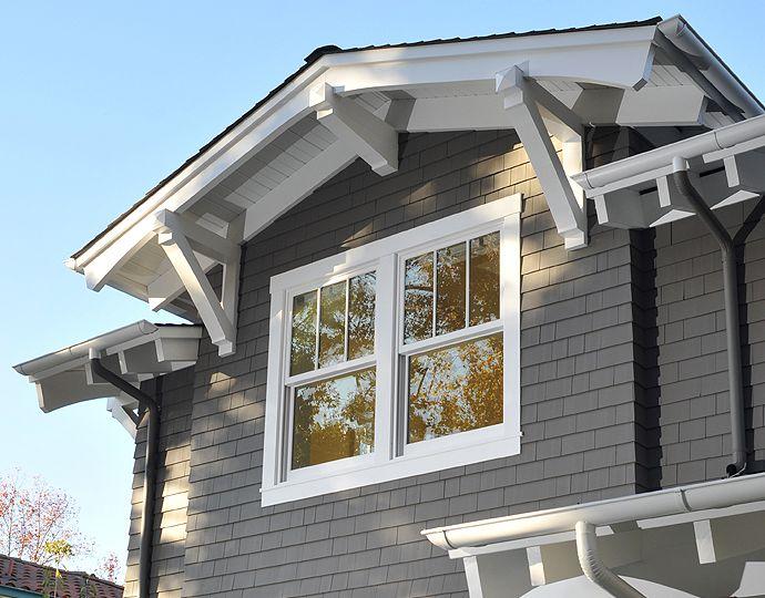 Pella Windows 'Proline 450' Double-hung, custom at top Exterior finish:  Linen White or White Interior finish:  Linen White or White Hardware finish:  Oil-rubbed Bronze