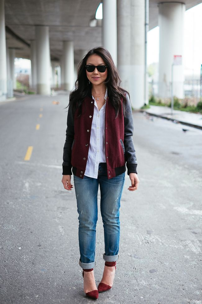 25 Ways to Style Your Varsity Jacket This Fall | StyleCaster
