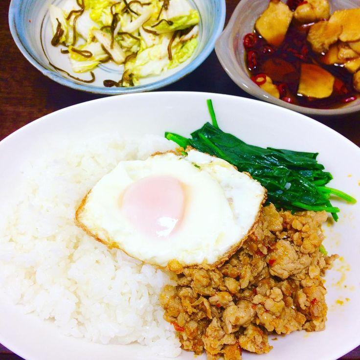 お昼はガパオを作りました  美味しい  #タイ料理 #ガパオ #おうちごはん