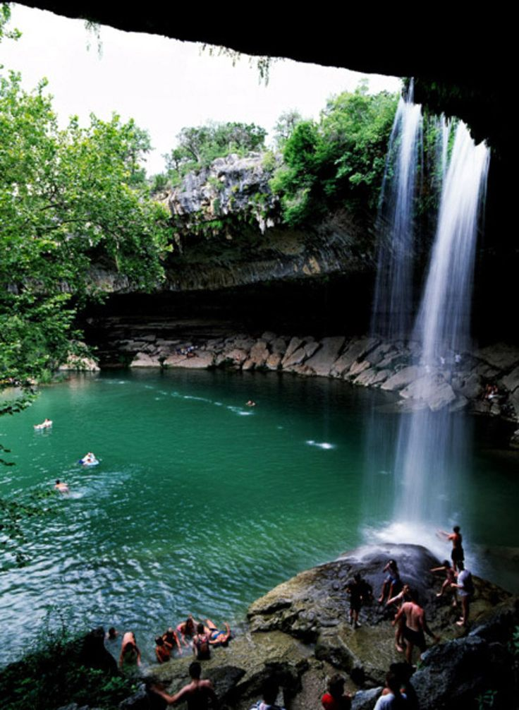 Hamilton Pool In Austin. It's A Beautiful Natural Swimming