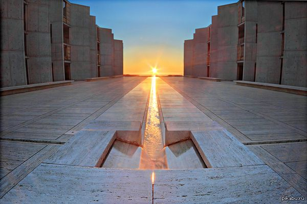 Институт Солка в Калифорнии архитектор Луис Кан