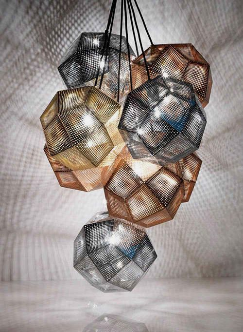 Modern Lampshade Made of Copper and Stainless Steel by Tom Dixon.  Have one and love it