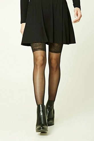 Rose Pattern Tights