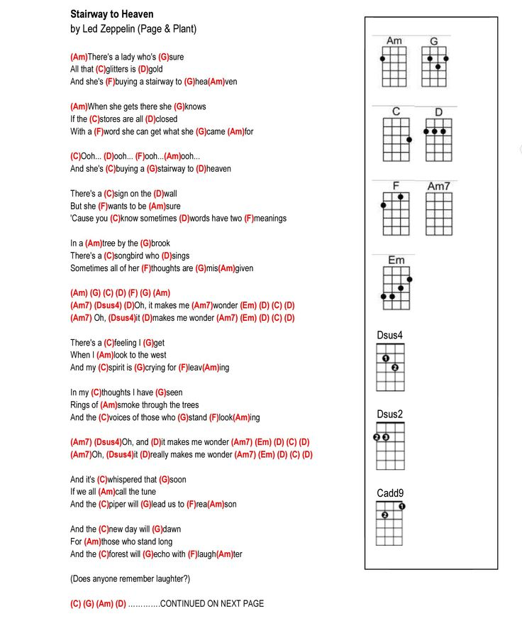 Led Zeppelin Stairway To Heaven Chords Passionx
