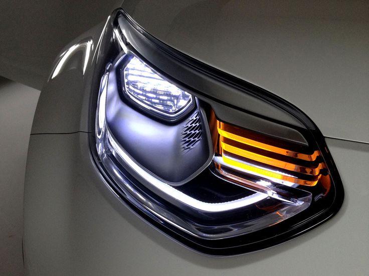 2012 Kia Track'ster concept headlight.
