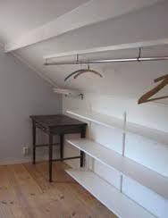 Bildresultat för bygga liten garderob sluttande tak