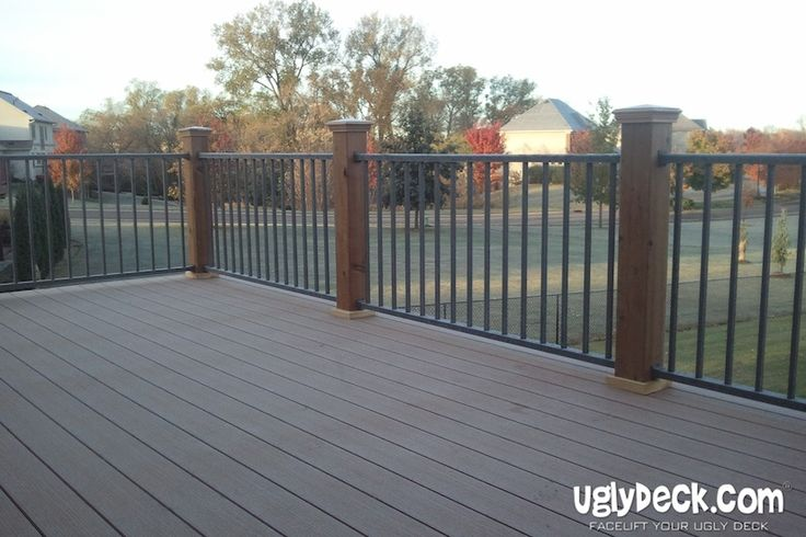 Replace your old deck rails with high quality aluminum deck railings made from maintenance free materials.