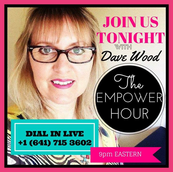 STARTS IN 10 mins......Dial in LIVE tonight for our Empower Hour, you don't want to miss this. Hear what DAVE WOOD has to say about his mission to create an army of Millionaires and how this Company is like NO other....If you are in Melbourne, jump on the call at 1pm today OR anywhere else 9pm EST (google the conversion) http://www.empowernetwork.com/go.php?go=empowerhour