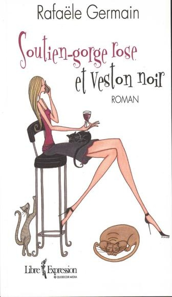 Rafaële Germain, Soutien-gorge rose et veston noir