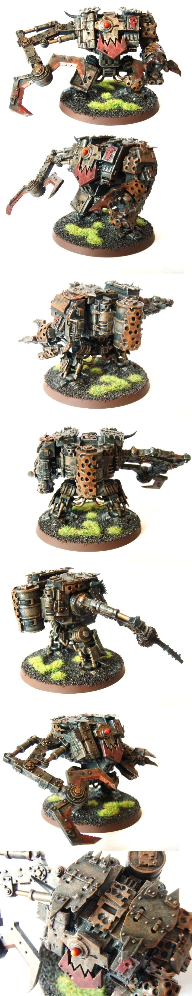 Ork Deff Dread aka Looted Space Marines Dreadnought / Cybot finished