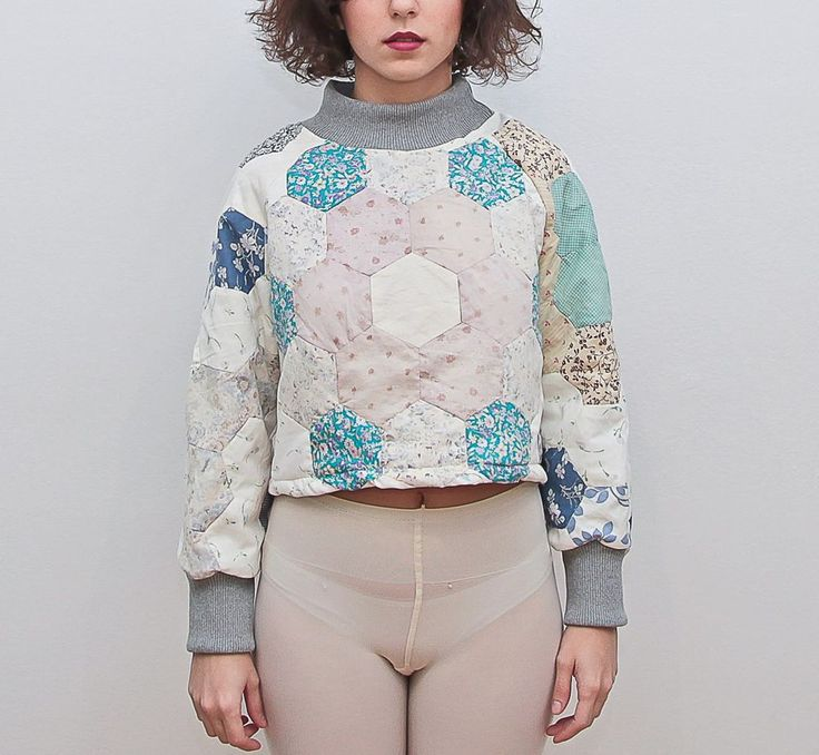 Jarapa Jarapa - Sudadera chica patchwork clarito