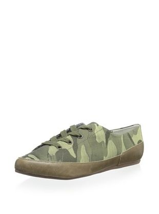 49% OFF Charles Philip Shanghai Women's Bianca Lace-Up Flat (Military Green)