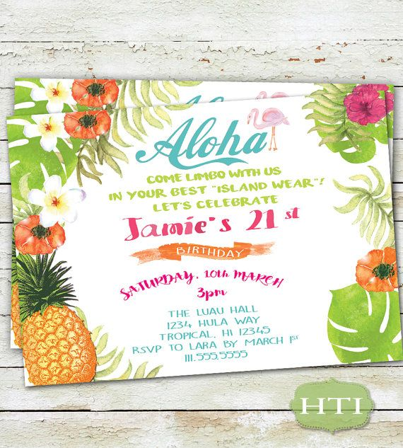tropical themed invitations thevillas co