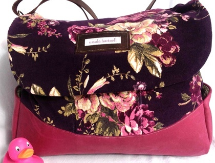 Bambino Nappy Satchel - Vintage Floral and Green