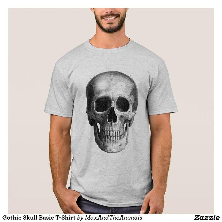 Gothic Skull Basic T-Shirt