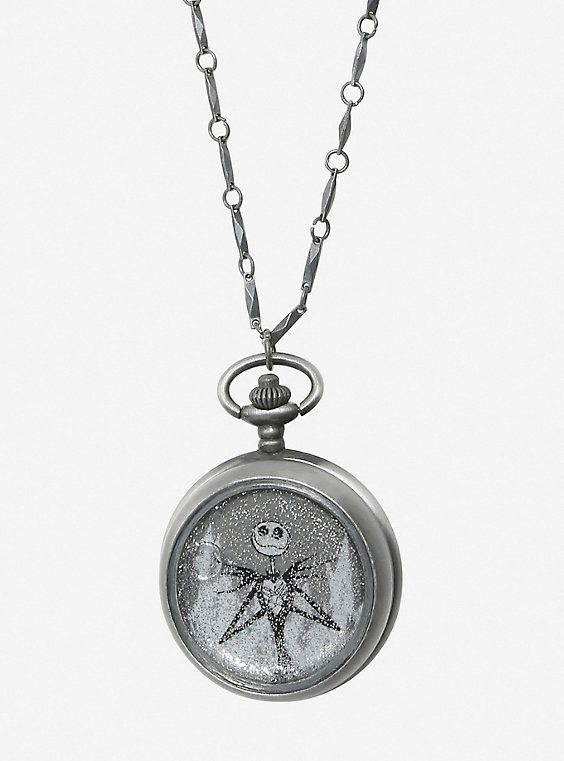 The Nightmare Before Christmas Jack Skellington Snow Globe Watch Necklace,