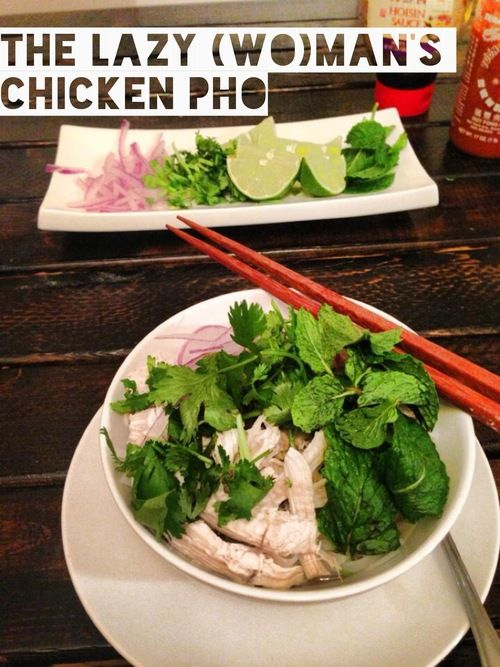 Lazy (Wo)man's Chicken Pho Recipe - Fresh, homemade chicken pho in under 20 minutes!