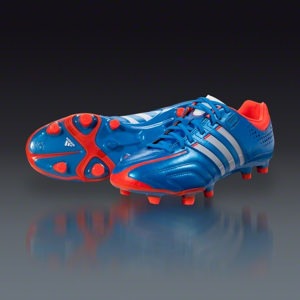 adidas adiPure 11 Pro TRX FG - Bright Blue/Running White/Infrared Firm Ground Soccer Shoes || SOCCER.COM