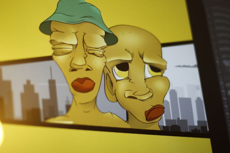 hip hop, rap, Digital, 2D, Animation, Comic, Art, animation, Skeatch, animal, art, grafity