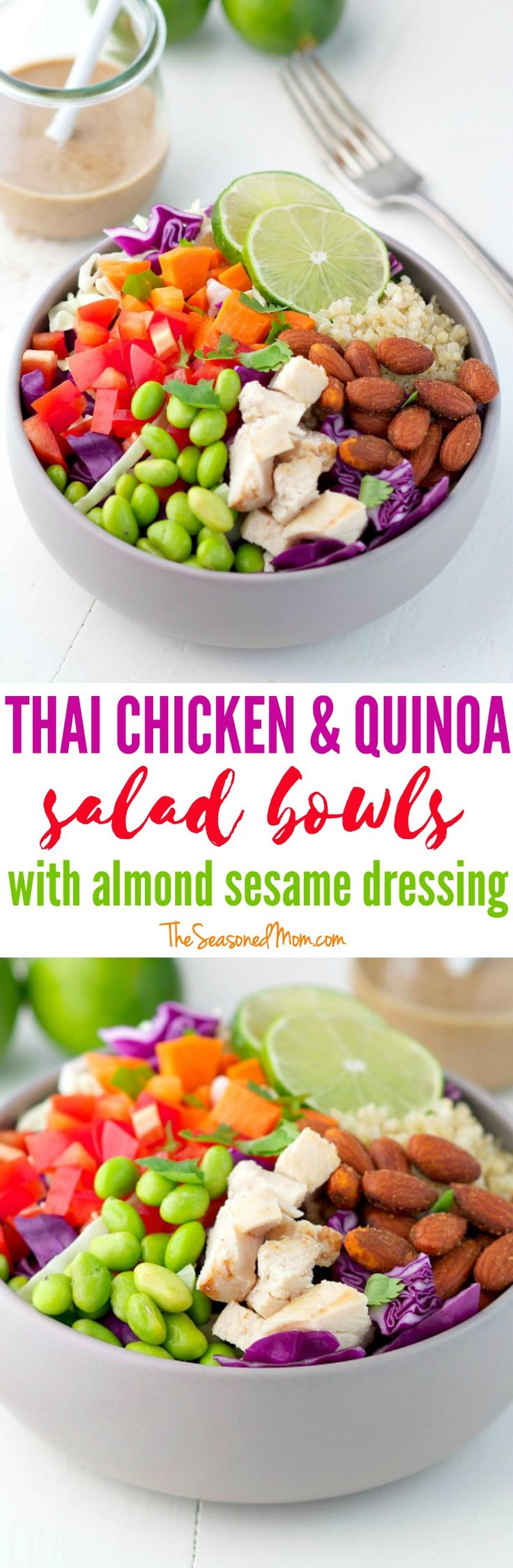 Thai Chicken and Quinoa Salad Bowls