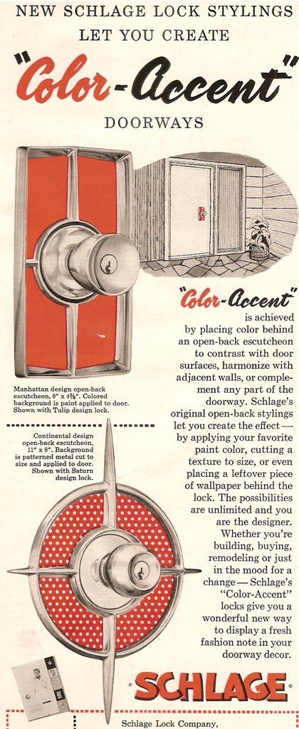 Mad for Midcentury: Schlage Mid-Century Backplates