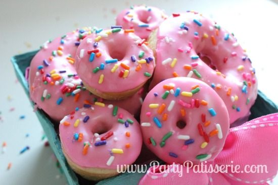 Pretty Pink Sprinkle Donuts