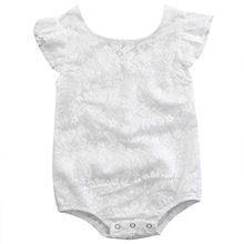 2017 Pasgeboren Baby Zomer Rompertjes Baby Meisje Katoenen Kant Romper Mouwloze Witte Jumpsuit Kids Baby Meisjes Kleding Outfit(China (Mainland))