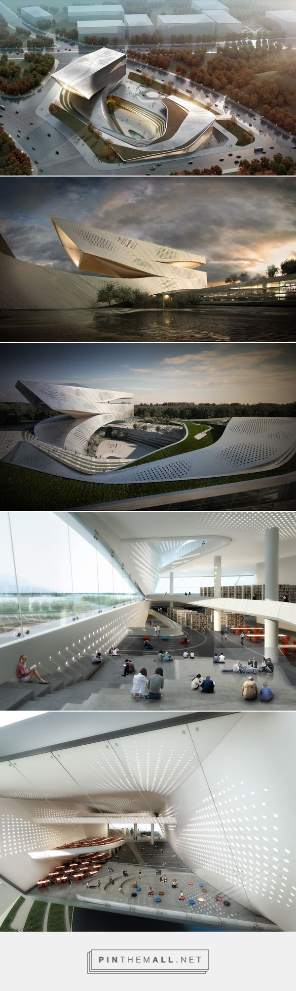 Dalian Library – Competition Proposal on Behance - created via http://pinthemall.net