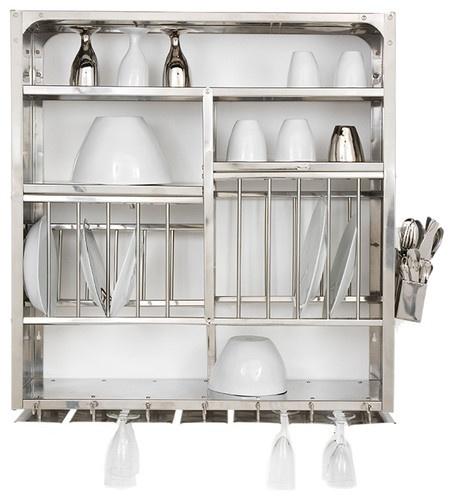 Stainless Steel Dish Rack - Tse & Tse contemporary dish racks