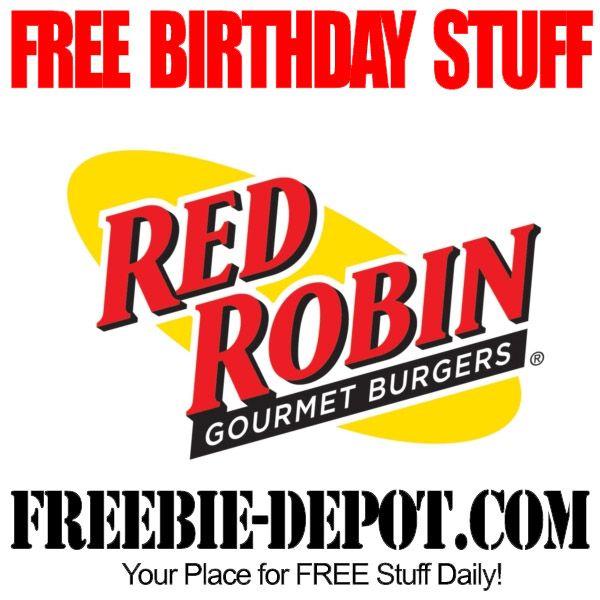 FREE BIRTHDAY STUFF - Red Robin - Birthday Freebie Burger - FREE BDay Hamburger #freebirthday