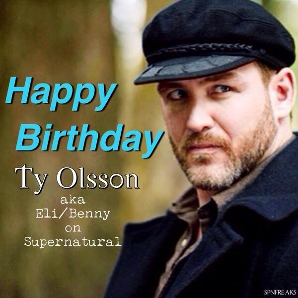 Via SUPERNATURAL @SPNfreaks Happy birthday @TyOlsson aka Eli/Benny on #Supernatural! We miss you! pic.twitter.com/5b9Vj7zy8H --- <3 All southern men should sound this yummy!