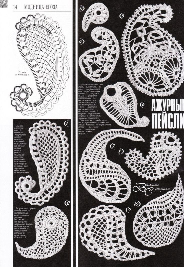 48 besten irisch crochet Bilder auf Pinterest   Irisch häkeln ...