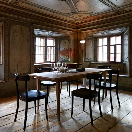Cherrywood table & chairs by Horgenglarus