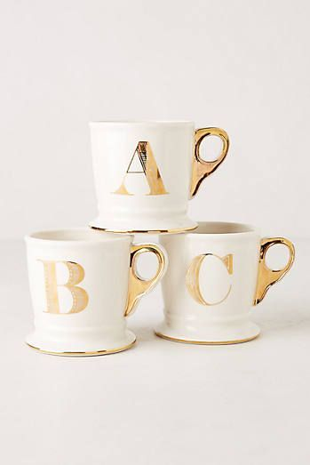 Gold Letter Mugs - N please, so difficult to find :( (note to self, start looking earlier next year! lol)