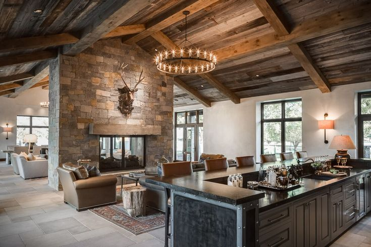 Tiffany Farha Design - The Ranch project - great room and bar.